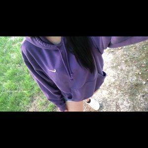 vintage purple Nike embroidered nike hoodie